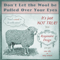 dont let the wool be pulled over your eyes