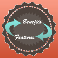features & benefits in blog post writing