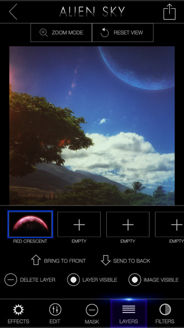 Alien Sky lets you put a different effect on each layer, making the possibilities pretty wild.